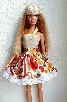 Hračky - Macíková suknička pre Barbie - 12902954_
