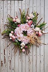Dekorácie - Venček jarný - Sakura - 12902387_