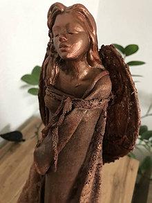 Socha - Anjel bronzový 2 - 12899328_