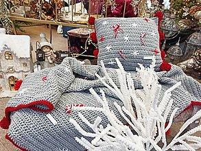 Úžitkový textil - Vianočná deka SET - 12899291_