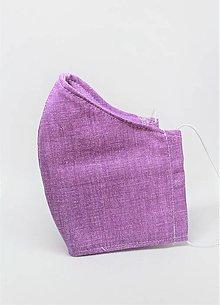 Rúška - Tvarované rúško na tvár - fialové - 12899115_