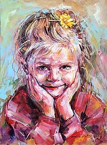 Obrazy - Zlatíčko s púpavou - 12901914_