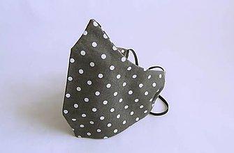 Rúška - Dvojvrstvové tvarované rúško - 12900802_