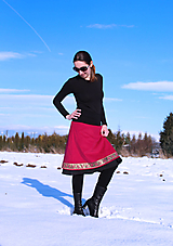 "Sukne - Midi ""tmavo-malinová"" sukňa SKLADOM - 12901854_"