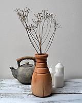 Drevená váza - natur