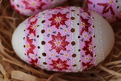 Dekorácie - Husacia kraslica - ružová - 12900699_