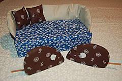Úžitkový textil - modrý - 12903451_
