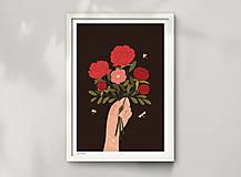 Grafika - Kytice - umělecký tisk - 12904397_