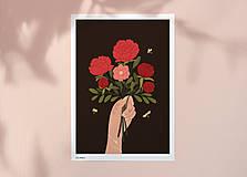 Grafika - Kytice - umělecký tisk - 12904399_