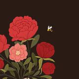 Grafika - Kytice - umělecký tisk - 12904400_