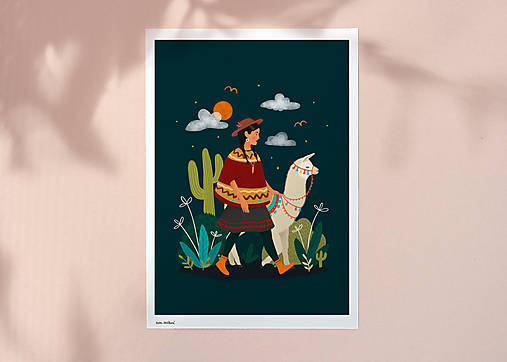 Lama - umělecký tisk