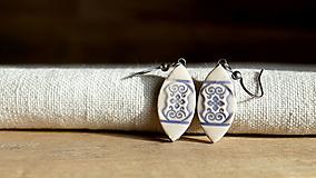 keramické náušnice č.318_ ornamenty