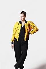 Kabáty - Bombera žltá s jašteričkami - 12906110_