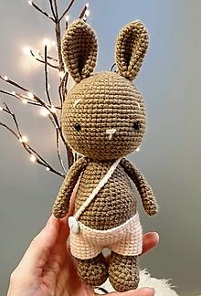 Hračky - Háčkovaný zajko Majko - 12906103_