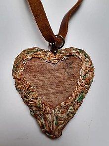 Náhrdelníky - valentínske srdiečko v kôre - 12907379_