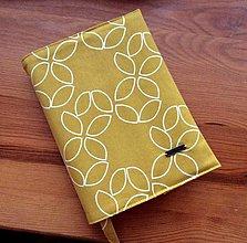 Papiernictvo - obal na knihu horčicový - 12905972_