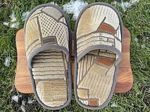 Obuv - Béžové vzorované papuče - 12904648_
