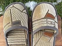 Obuv - Béžové vzorované papuče - 12904649_