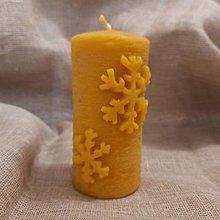 Svietidlá a sviečky - Valec s vločkami - 12906722_