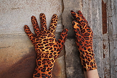Rukavice - Rukavičky- Hnedý leopard  - 12905081_