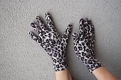 Rukavice - Rukavičky - Sivý leopard - 12905115_