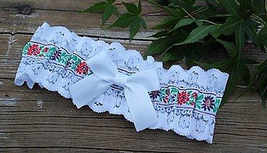 Bielizeň/Plavky - Folklórny svadobný podväzok - P10 - 12906828_