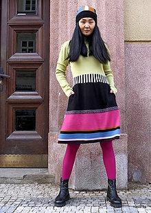 Šaty - NORA 2 -šaty s pruhovanou sukní - 12907531_