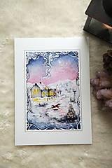 Obrazy - Zimná rozprávka s líštičkou Art Print - 12905896_