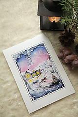 Obrazy - Zimná rozprávka s líštičkou Art Print - 12905898_