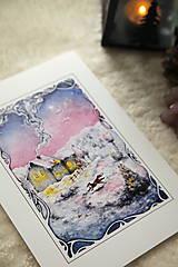 Obrazy - Zimná rozprávka s líštičkou Art Print - 12905899_