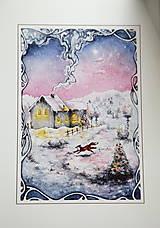 Obrazy - Zimná rozprávka s líštičkou Art Print - 12905900_