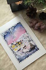 Obrazy - Zimná rozprávka s líštičkou Art Print - 12905908_