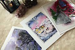Obrazy - Zimná rozprávka s líštičkou Art Print - 12905917_