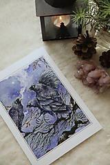Obrazy - Havrany v šípkových hmlách Art Print - 12906213_