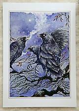 Obrazy - Havrany v šípkových hmlách Art Print - 12906217_