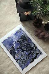 Obrazy - Havrany v šípkových hmlách Art Print - 12906218_