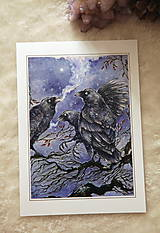 Obrazy - Havrany v šípkových hmlách Art Print - 12906219_