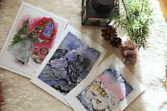 Obrazy - Havrany v šípkových hmlách Art Print - 12906221_