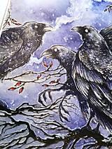 Obrazy - Havrany v šípkových hmlách Art Print - 12906248_