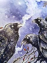 Obrazy - Havrany v šípkových hmlách Art Print - 12906249_