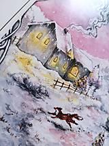 Obrazy - Zimná rozprávka s líštičkou Art Print - 12906272_