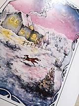 Obrazy - Zimná rozprávka s líštičkou Art Print - 12906277_