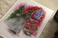 Obrazy - Klára a princ Luskáčik Art Print - 12906340_