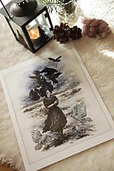 Obrazy - Havranie dieťa Art Print - 12906511_