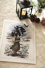 Obrazy - Havranie dieťa Art Print - 12906513_