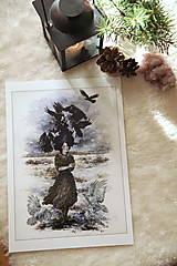Obrazy - Havranie dieťa Art Print - 12906516_