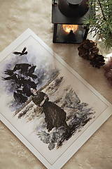 Obrazy - Havranie dieťa Art Print - 12906521_
