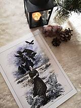 Obrazy - Havranie dieťa Art Print - 12906522_
