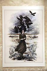 Obrazy - Havranie dieťa Art Print - 12906523_
