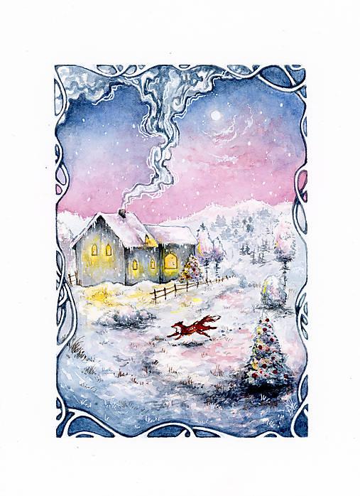 Zimná rozprávka s líštičkou Art Print